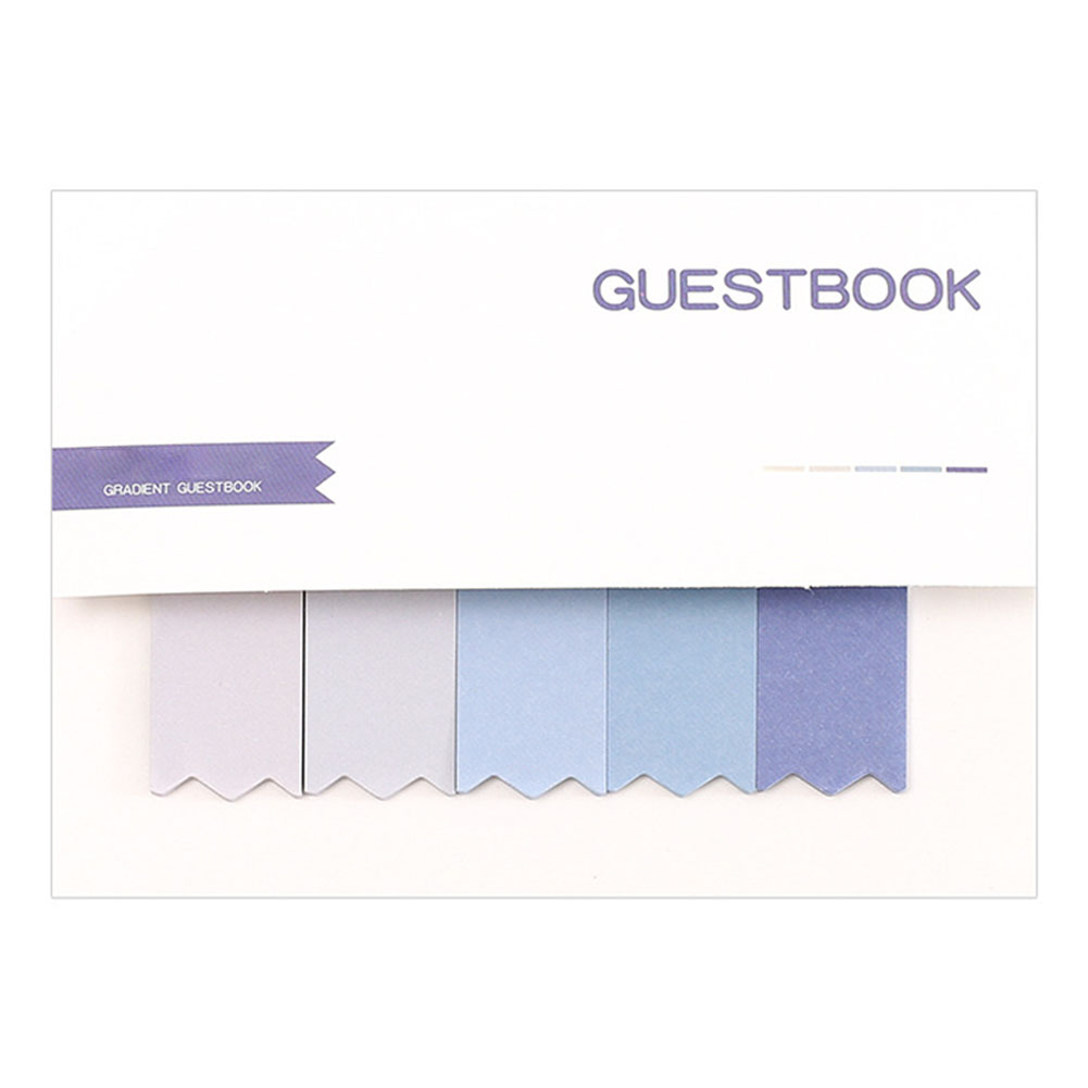 Gradient Color Sticky Note for Message Leaving Decoration
