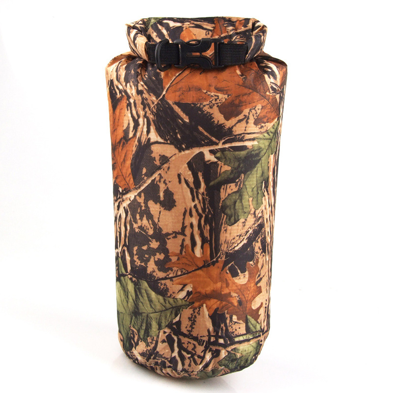 Portable 8L Camouflage Waterproof Storage Bag For Outdoor Canoe Kayak Rafting Camping Climbing Hike Camouflage_8L
