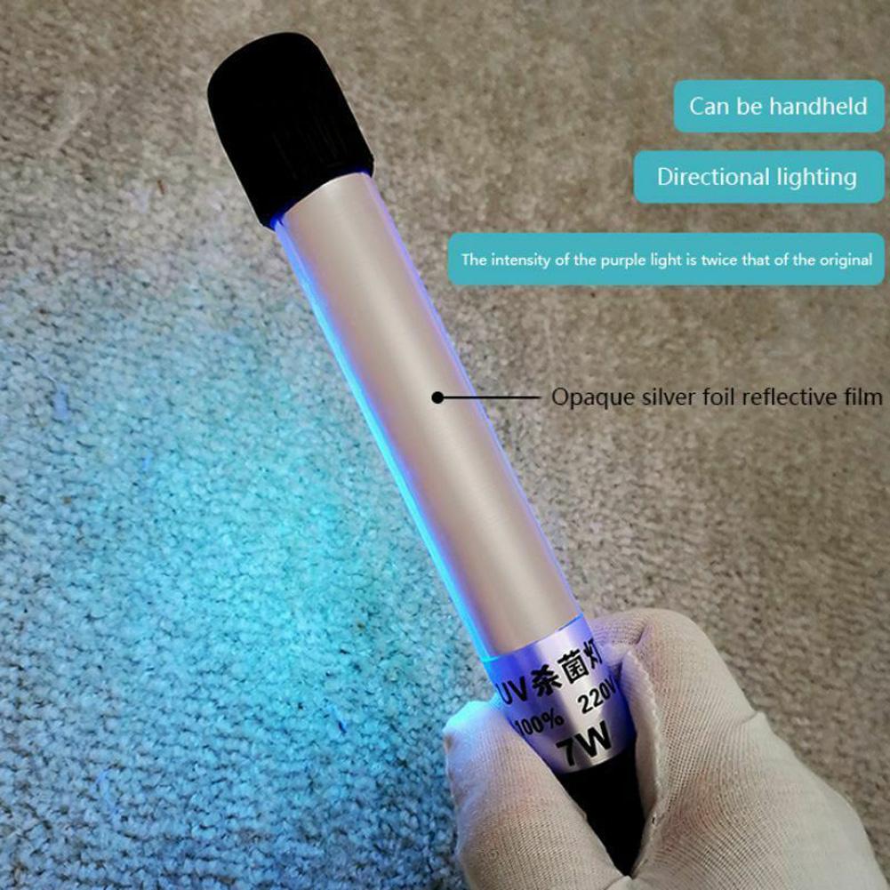 Handheld Portable LED Ultraviolet Disinfection Lamp Sterilizing Light Bar 16*10*6cm UK Plug