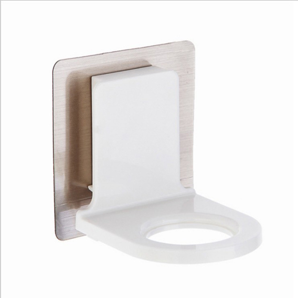 Wall Mounted Shampoo Holder Self Adhesive Removable Bathroom Bottle Holder Shower Caddy  as shown