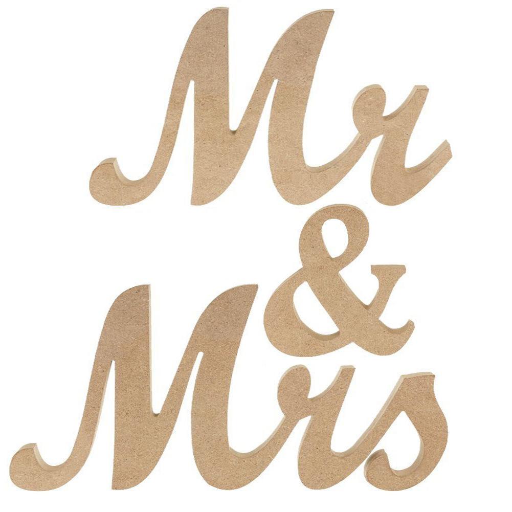 Vintage StyleMr & Mrs Wooden Letters for Wedding Decoration DIY Decoration