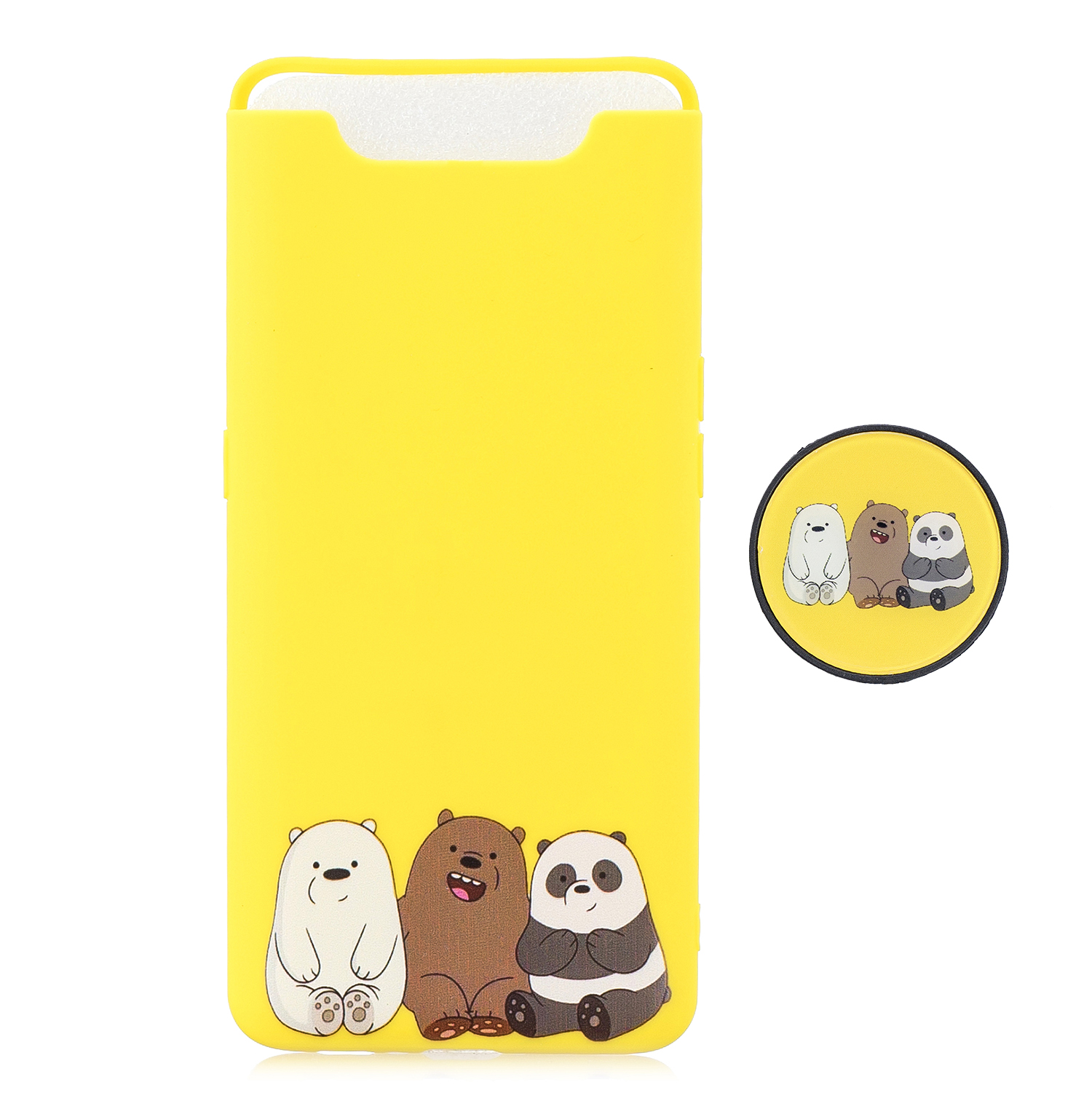 For Samsung A80 Screen Protective Shockproof TPU Full Phone Cover Cartoon Phone Case Full Body Protection Mobile Phone Case with Adjustable Bracket 7