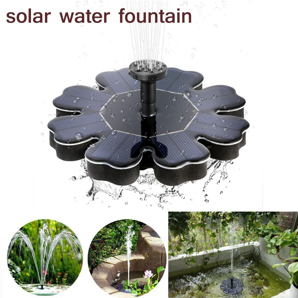 Floating Solar Fountain Flower-shape Water Pump for Outdoor Birdbath Pool Garden Decoration