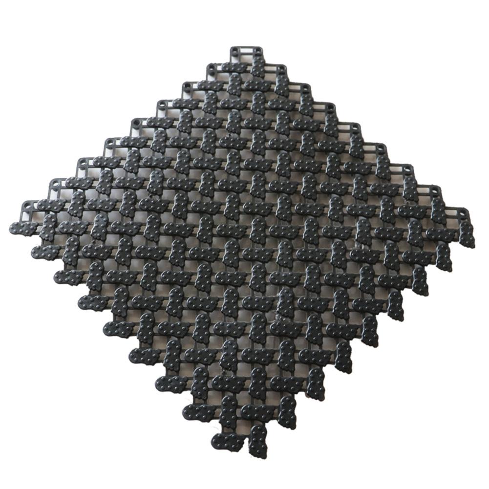 1Pc Non-slip Candy Color DIY Splicing Floor Mat Massage Rug for Bathroom black