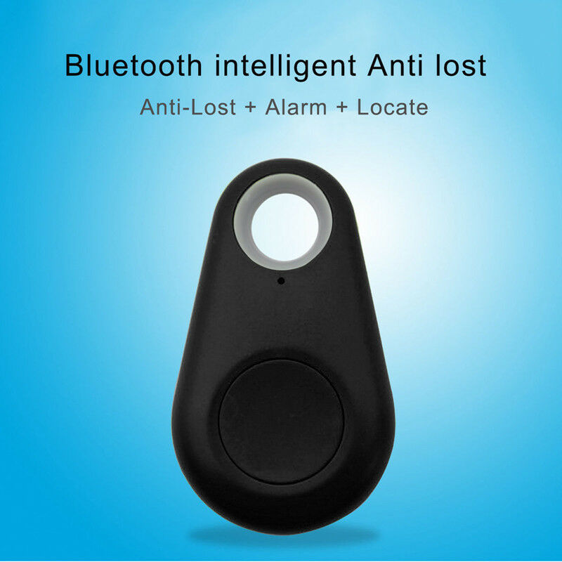 Smart Mini Waterproof Bluetooth GPS Tracker for Pet Dog Cat Keys Wallet Bag Kids black