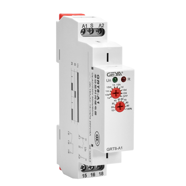 Delay  Off  Time  Relay Small Relay With Led Indicator Electronic Dc 24v GRT8-B1 AC/DC12-240V
