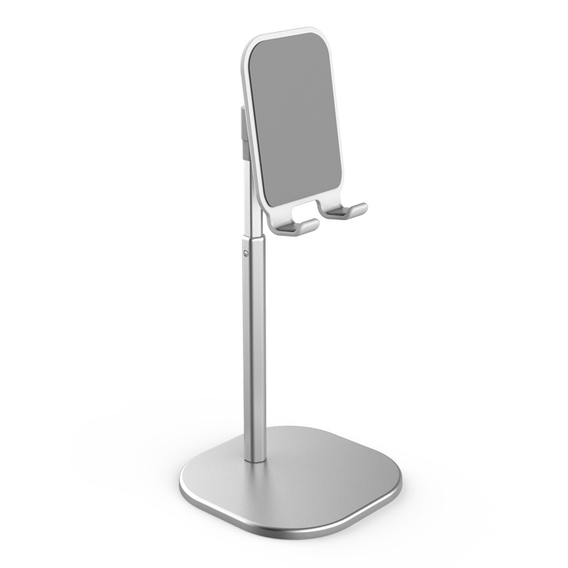 Universal Desk Telescopic Cell Phone Holder Stand For Mobile Phone/Tablet Desktop Cellphone Holder for iphone ipad xiaomi Stand Universal Bracket Retractable silver