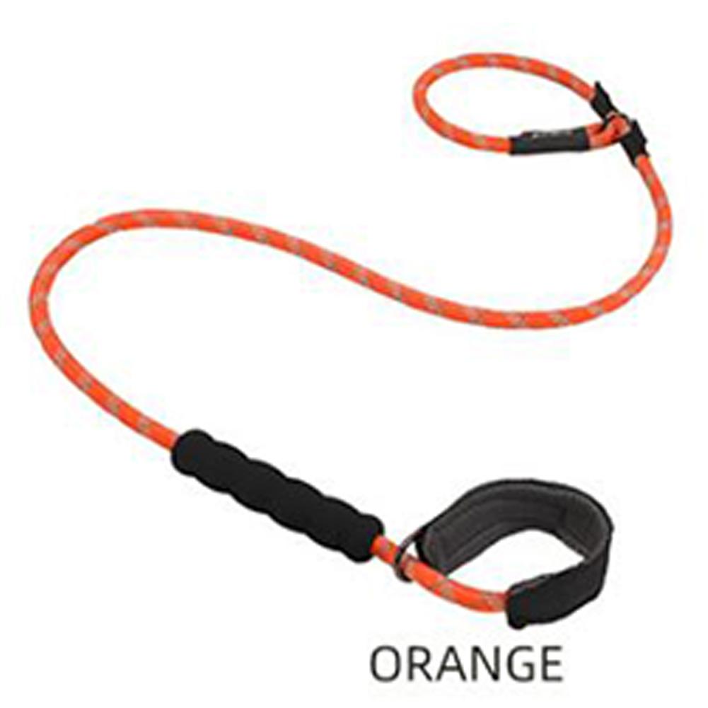 Reflective Nylon Dog Training Traction Rope Dog Walking Pet Dog Training Round Rope P Rope Orange