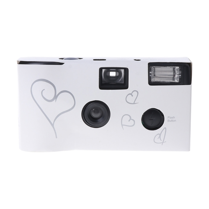 Film Cameras 36 Photos Power Flash HD Single Use Disposable Film Camera  white