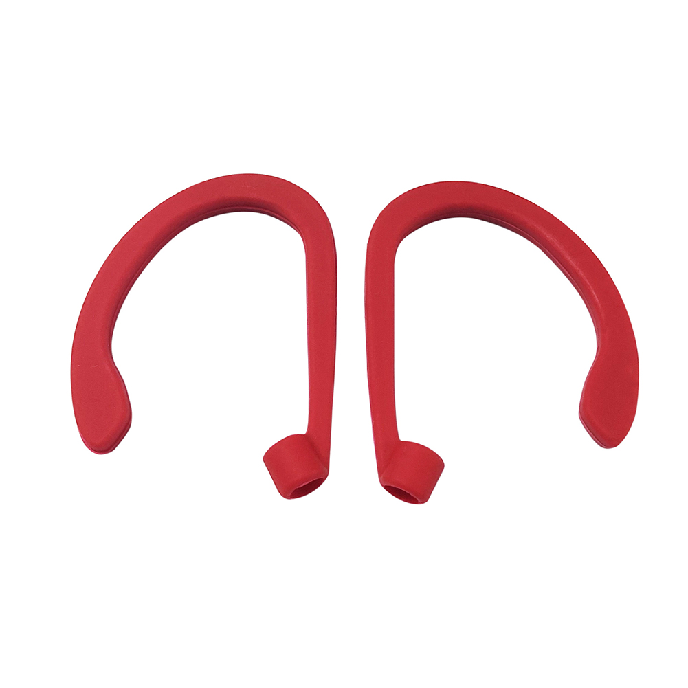 Earphone Hook Suitable for Airpods Headset Portable Anti-lost Silicone Earphone Ear Hook Red