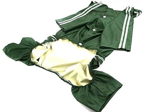 Dog raincoat green 7XL