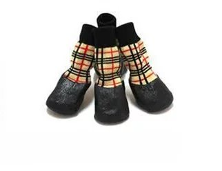 [5 types] GlowSol Pet clothes, dog socks, dog socks, set of 4 for 1 pair, waterproof, non-slip, breathable, exercise, walk out, lightweight and cute (types 3 and 2)