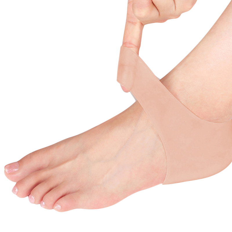 Skin Softening Medical Grade Silicone Gel Heel Sleeves for Dry Cracked Heel with Protective Cushioning and Plantar