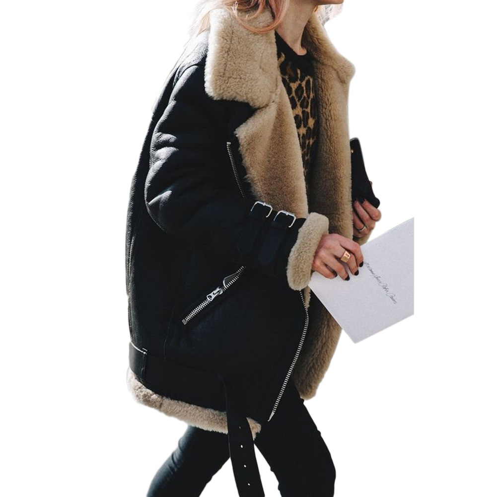 Women Cotton Jacket Fashionable Coat Warm Plush Top