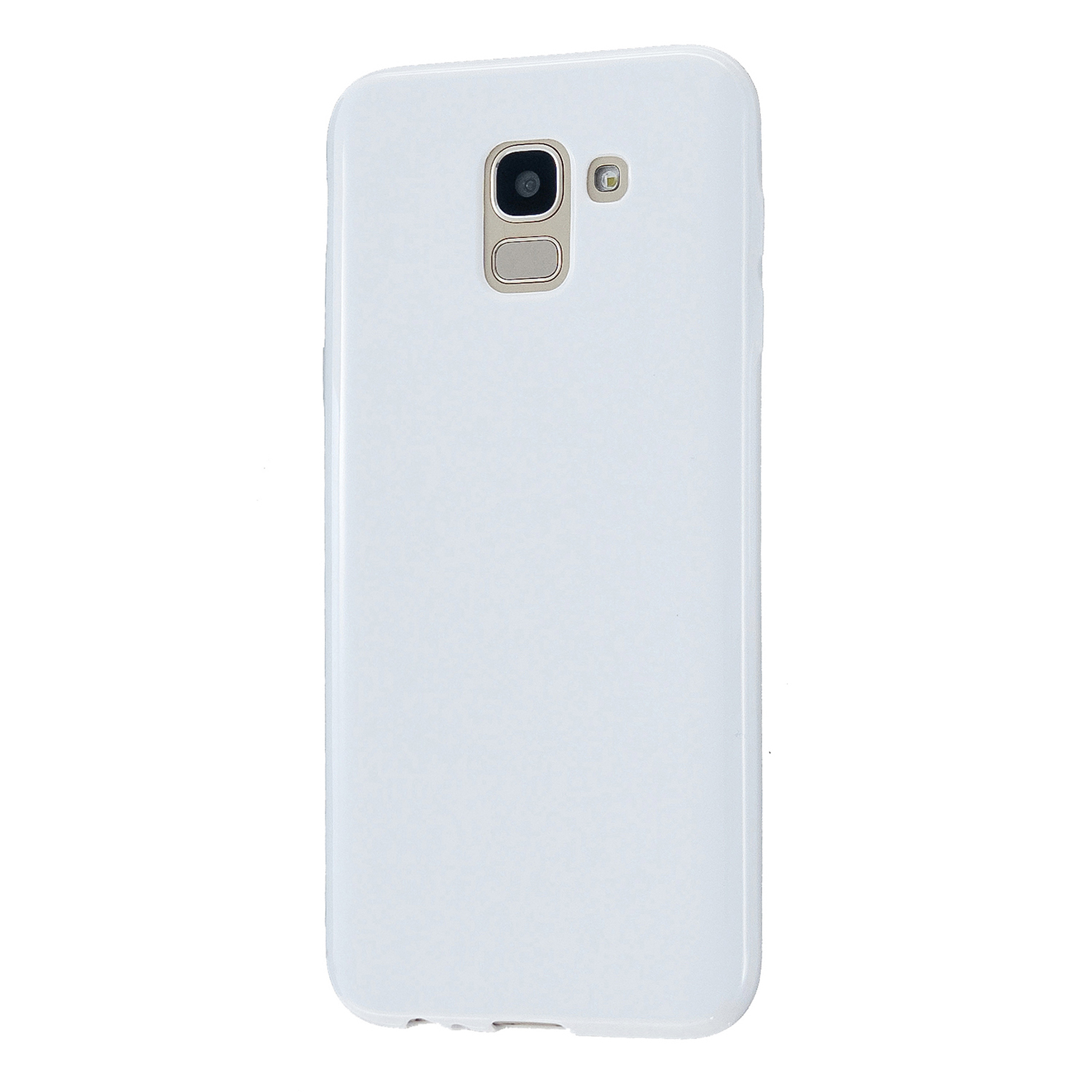 For Samsung A6/A6 Plus 2018 Smartphone Case Soft TPU Precise Cutouts Full Body Protection Mobile Phone Shell Milk white