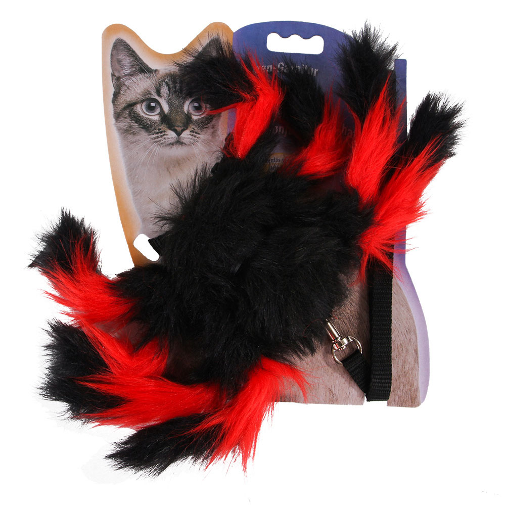 Pet Spider Shape Chest Strap Leash for Cat Halloween Christmas Wear red_One size