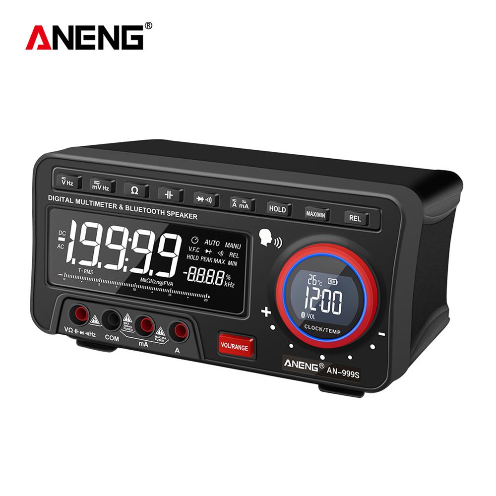 High-precision Voice Broadcast Desktop Bluetooth Audio Digital Multimeter black