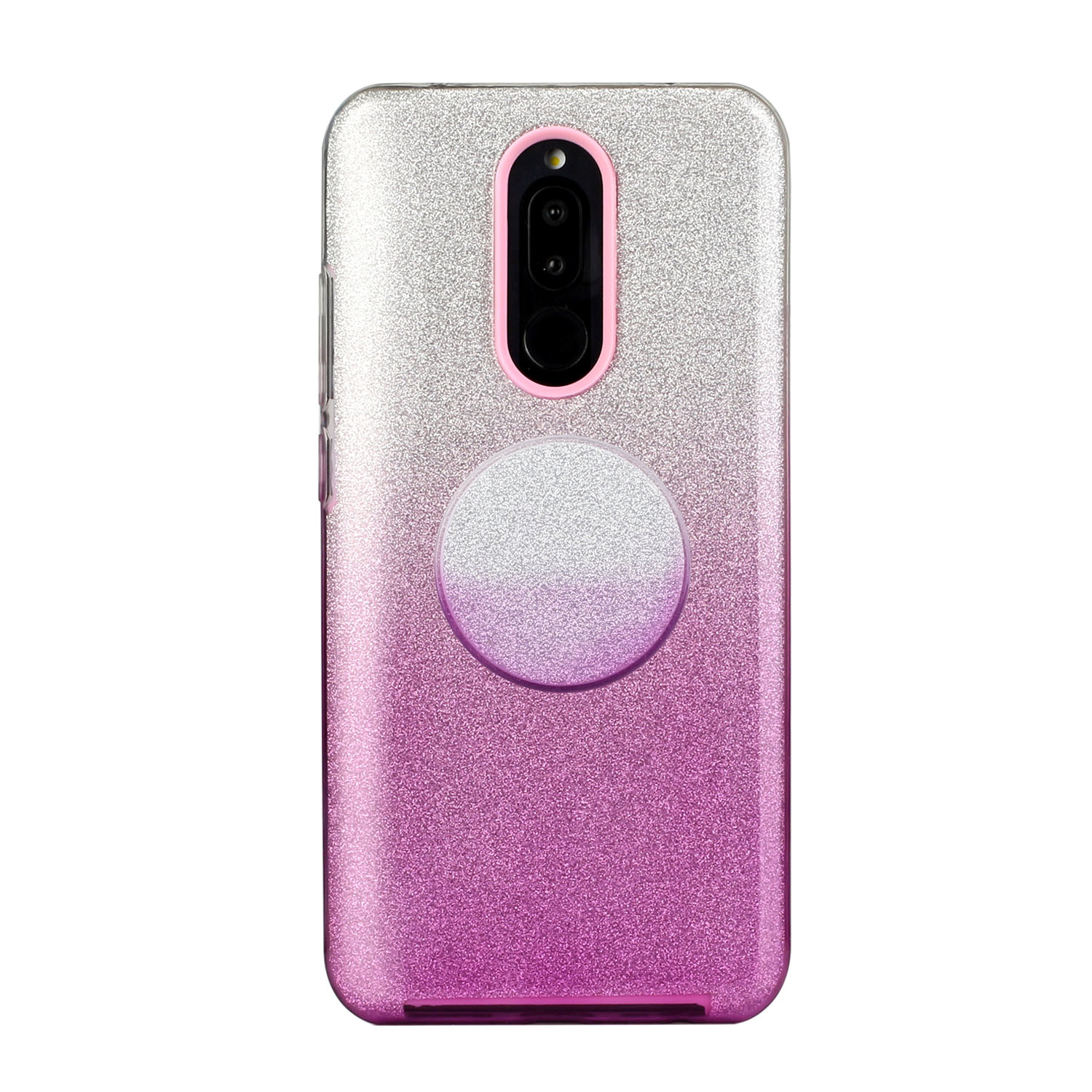 For OPPO F9/F9 Pro/A7X/F11 Pro/A8/A31 Phone Case Gradient Color Glitter Powder Phone Cover with Airbag Bracket purple