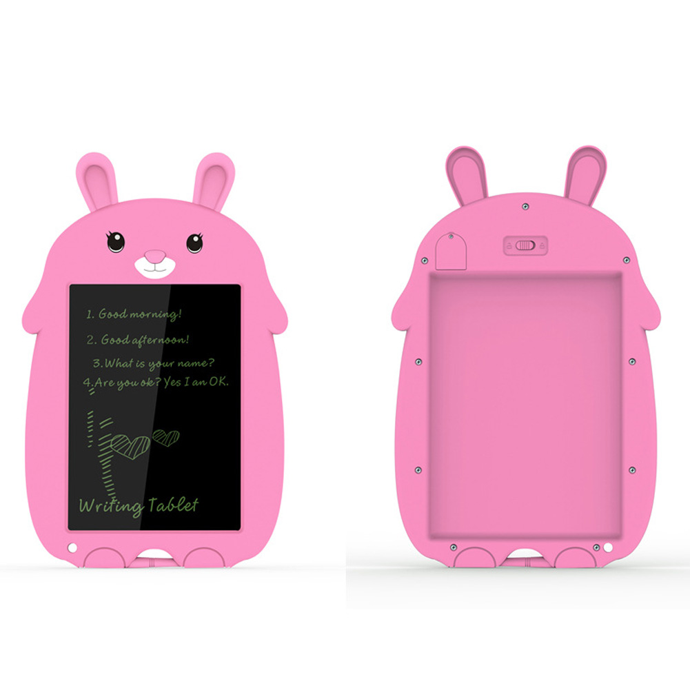 8.5 Inch Cartoon Smart Tablet Children's Smart Electronic LCD Drawing Board With Lock Pink bunny