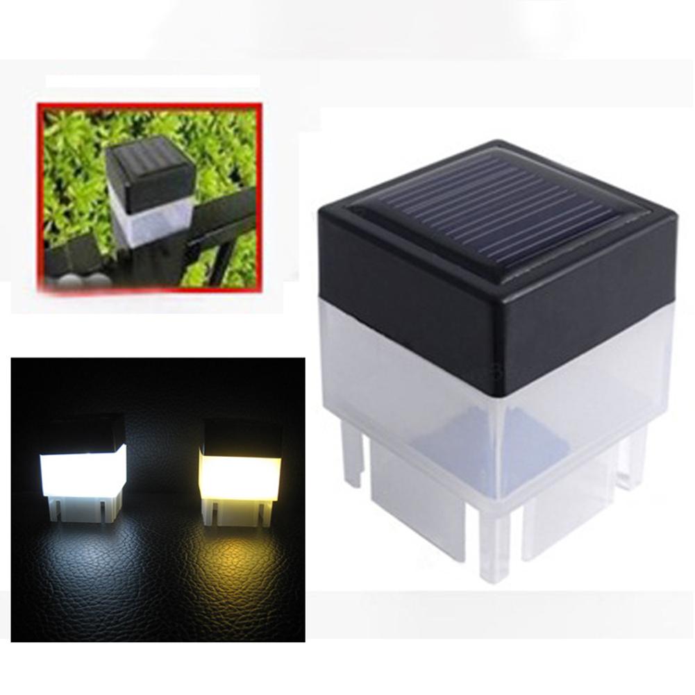 LED Waterproof Square Solar Fence Light for Corridor Outdoor Garden Yard Lawn 5x5x7CM white light