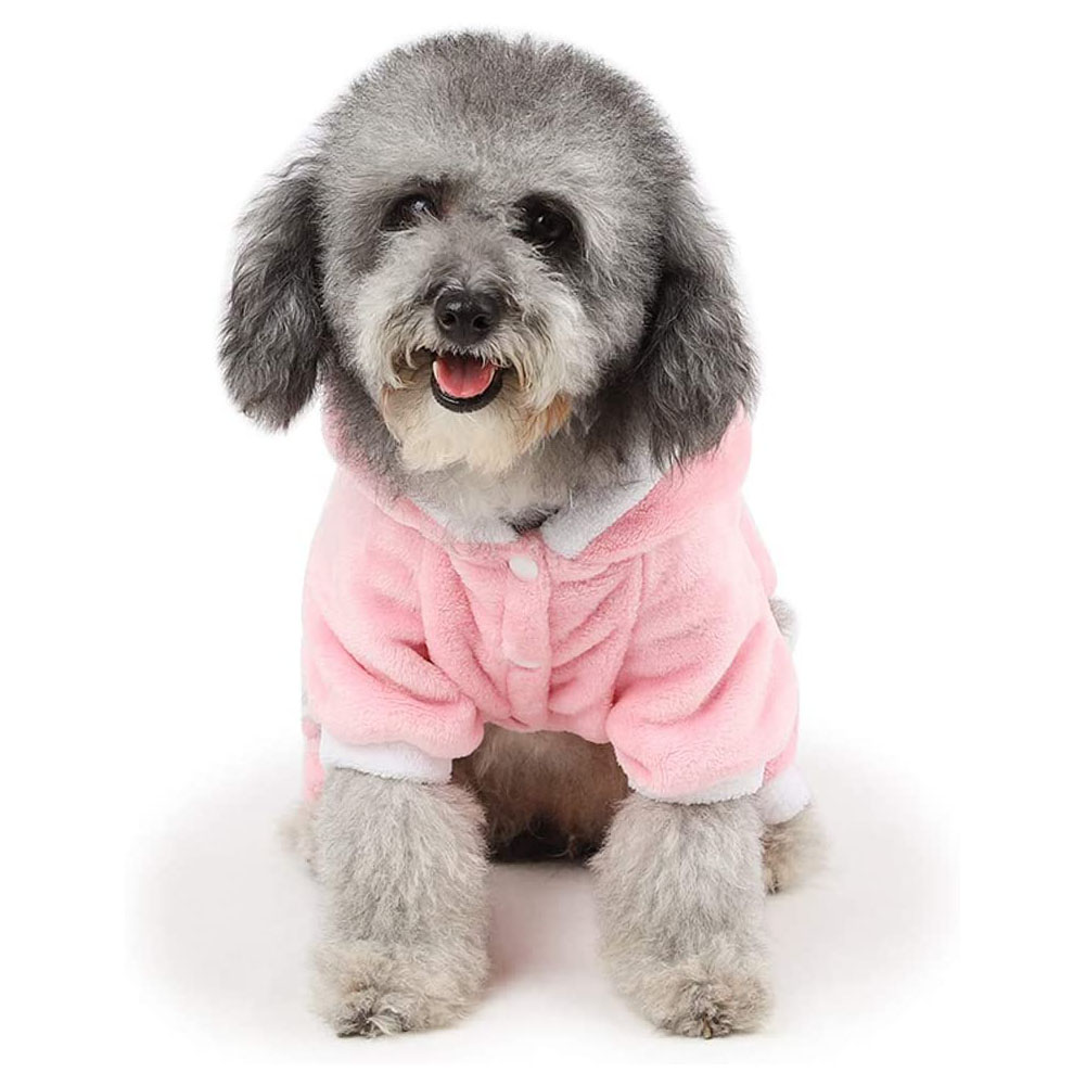 Dog Coat Piggy-shape Four-legged Autumn and Winter Casual Pet Clothes Pink_S
