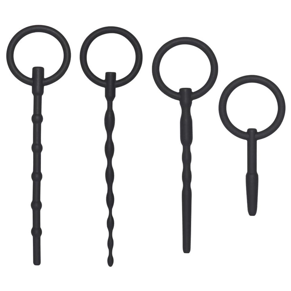4pcs Utimi Catheter Penis Plug Dilator with Ring Prostate Massage Anal Beads Anal Beads 4pcs