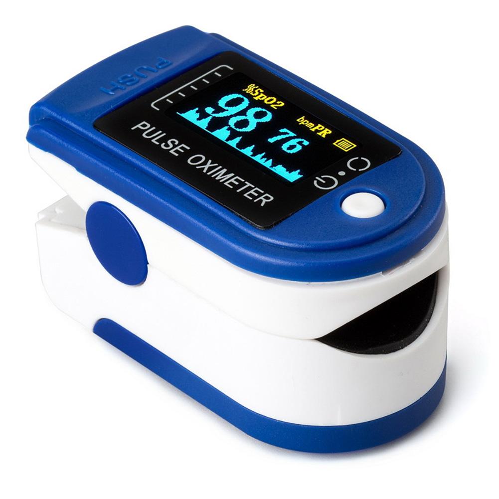 Finger Oximeter Portable Blood Oxygen Monitor Oximeter Oxygen Saturation Monitor blue