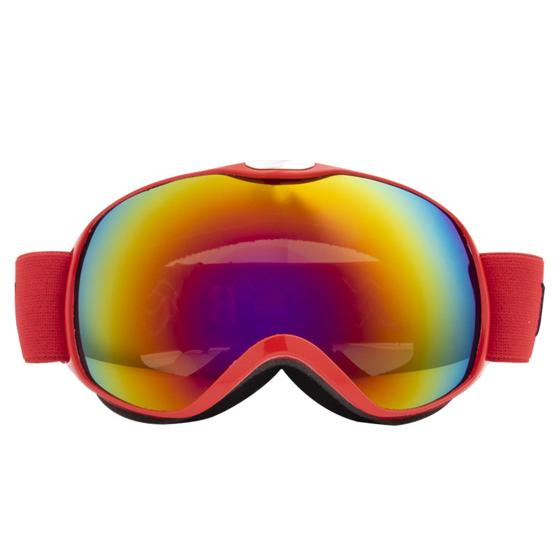 Children Ski Goggles Dual Layer Anti-fog Skiing Mask Glasses Snowboard Skating Windproof Sunglasses Skiing Goggles red