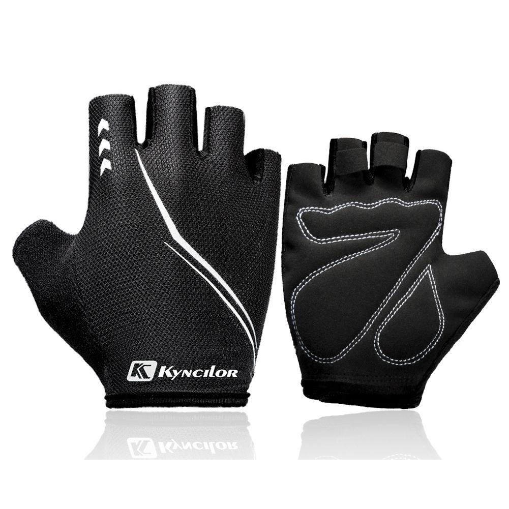 Outdoors Breathable Damping Riding Gloves for Women Men Fitness Half-finger Mountain Bike Gloves black_XL