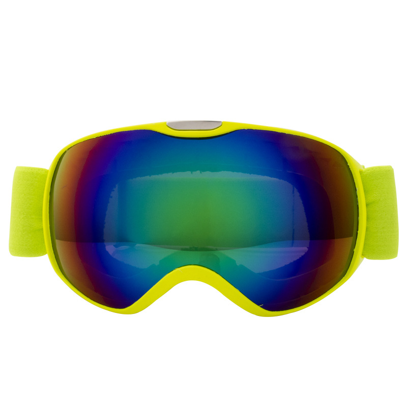 Children Ski Goggles Dual Layer Anti-fog Skiing Mask Glasses Snowboard Skating Windproof Sunglasses Skiing Goggles yellow