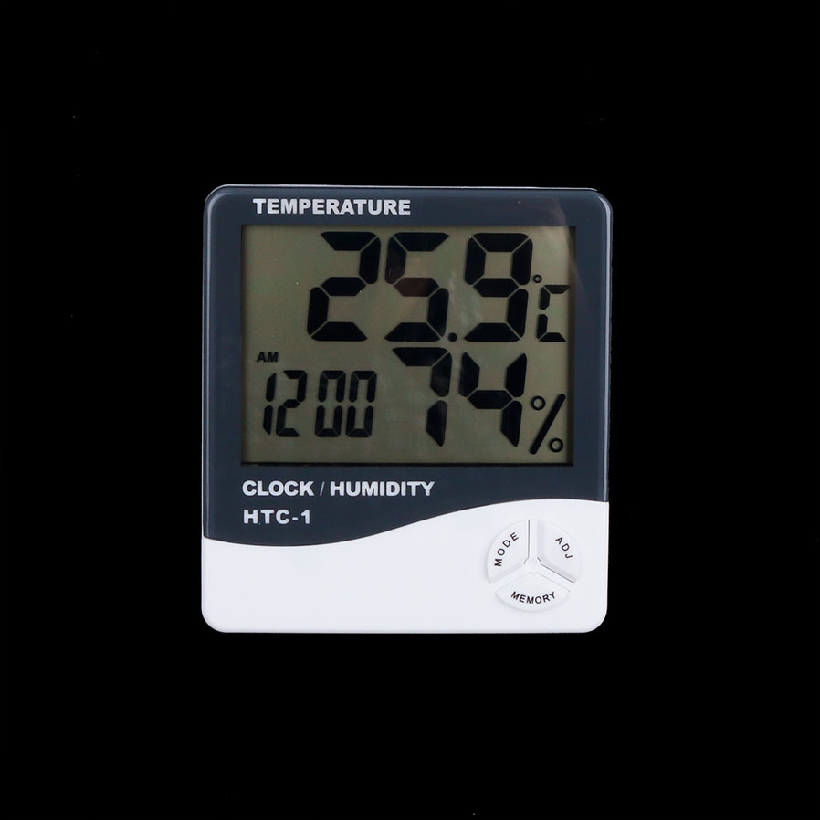 For HTC-1 High accuracy LCD Digital Thermometer Hygrometer blue