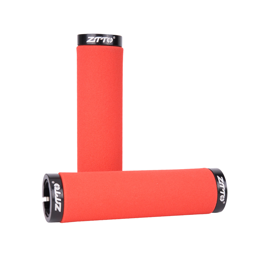 ZTTO Bicycle Handle Grip Sponge Handle Cover Soft Comfortable Colorful Bike Handle Cover red