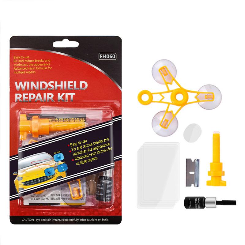 Windshield Repair Tool Car Window Glass Scratch Crack Restore Repair Tool English blister