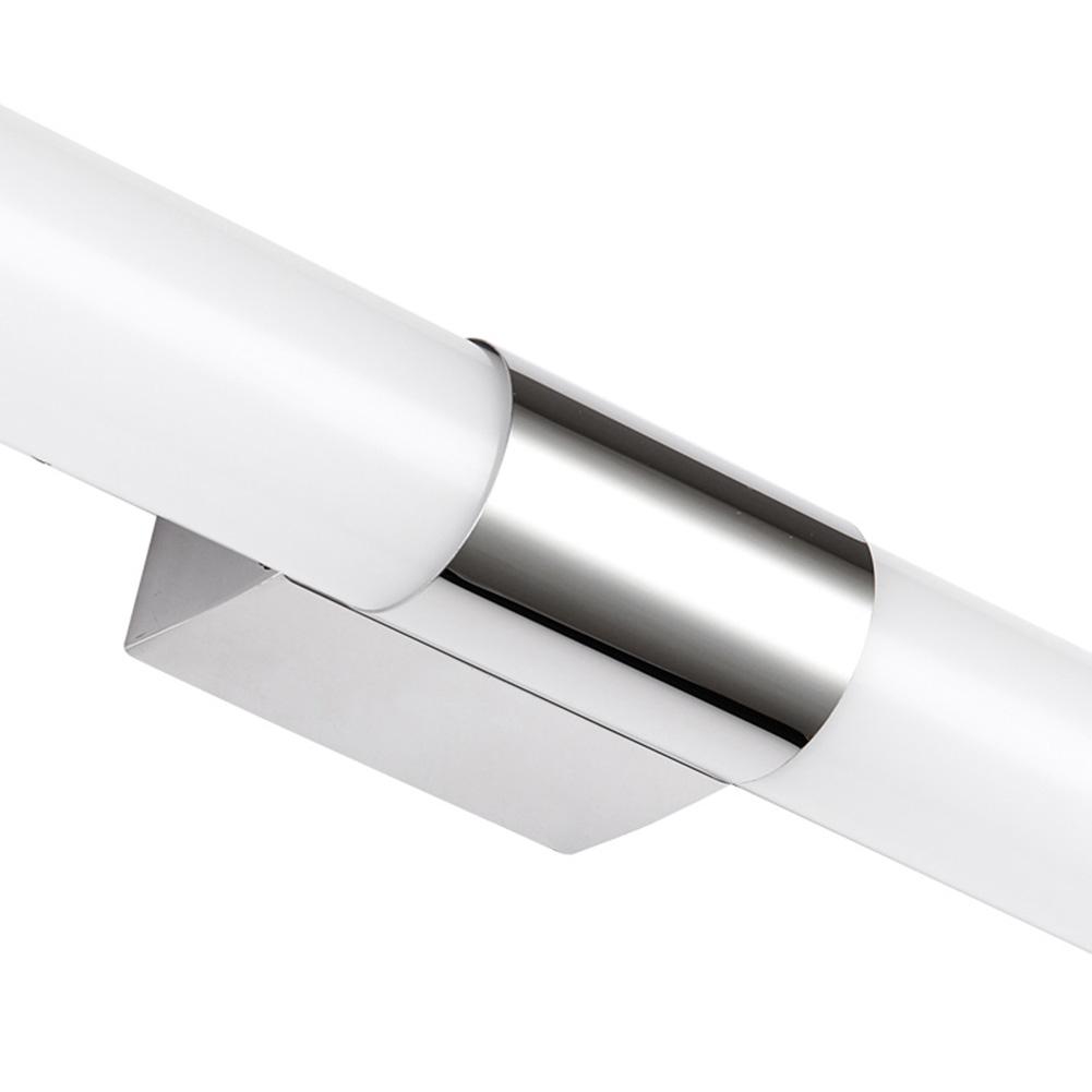 [US Direct] Modern 24W Acrylic Tube Mirror Lamp, 85-265V Home Bathroom LED Wall Light, Waterproof Make-up Lighting Tubes White_24w[100cm]