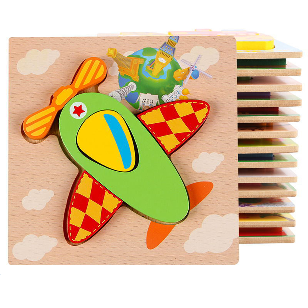3d Wooden Puzzle  Learning Early  Educational Toys For  Children  Kids Fighter plane