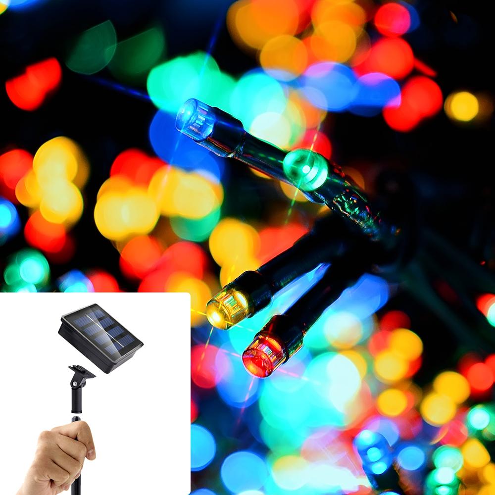 12M/22M 100LEDs/200LEDs Waterproof Solar String Light with 8 Modes for Decoration Color light_22 meters 200 LED_(ME0003604)