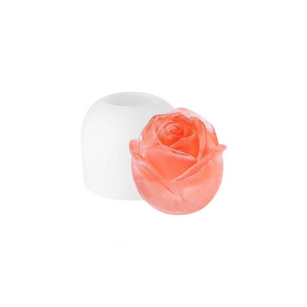Silicone Rose Ice  Ball  Mold Ice Maker For Household Kitchen Bar Acceesories 2.5 inch