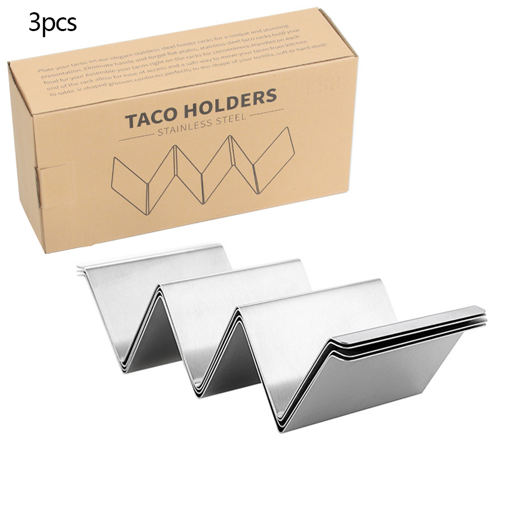 Taco Rack Stainless Steel Taco  Holder Stand Kitchen Cooking Accessories Single installation (with border)
