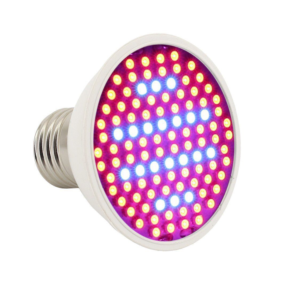 E27 10W LED Plant Grow Light 106 LED Beads Full Spectrum Creative Lamp for Indoor Hydroponic Plant Vegetable Cultivation Horticulture Industrial Seedling