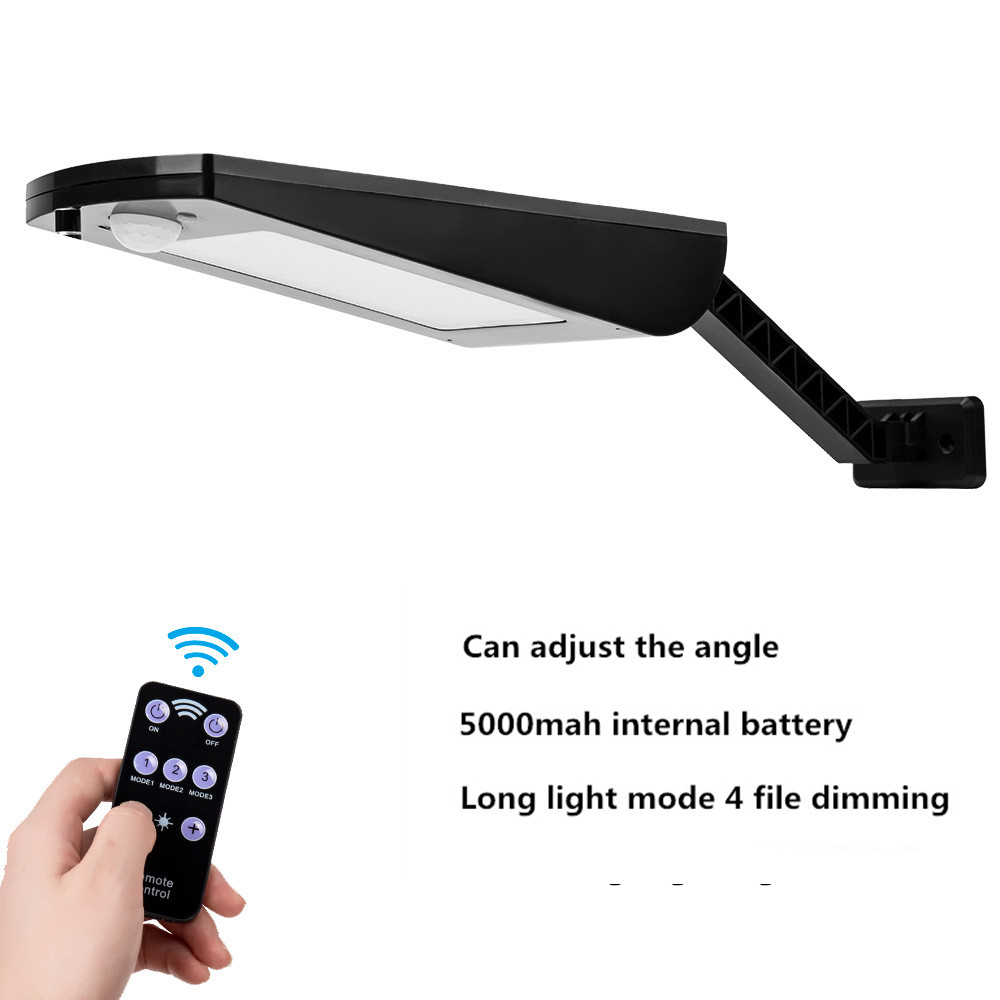 LED Dimmable Solar Human Body Induction Remote Control Wall Light