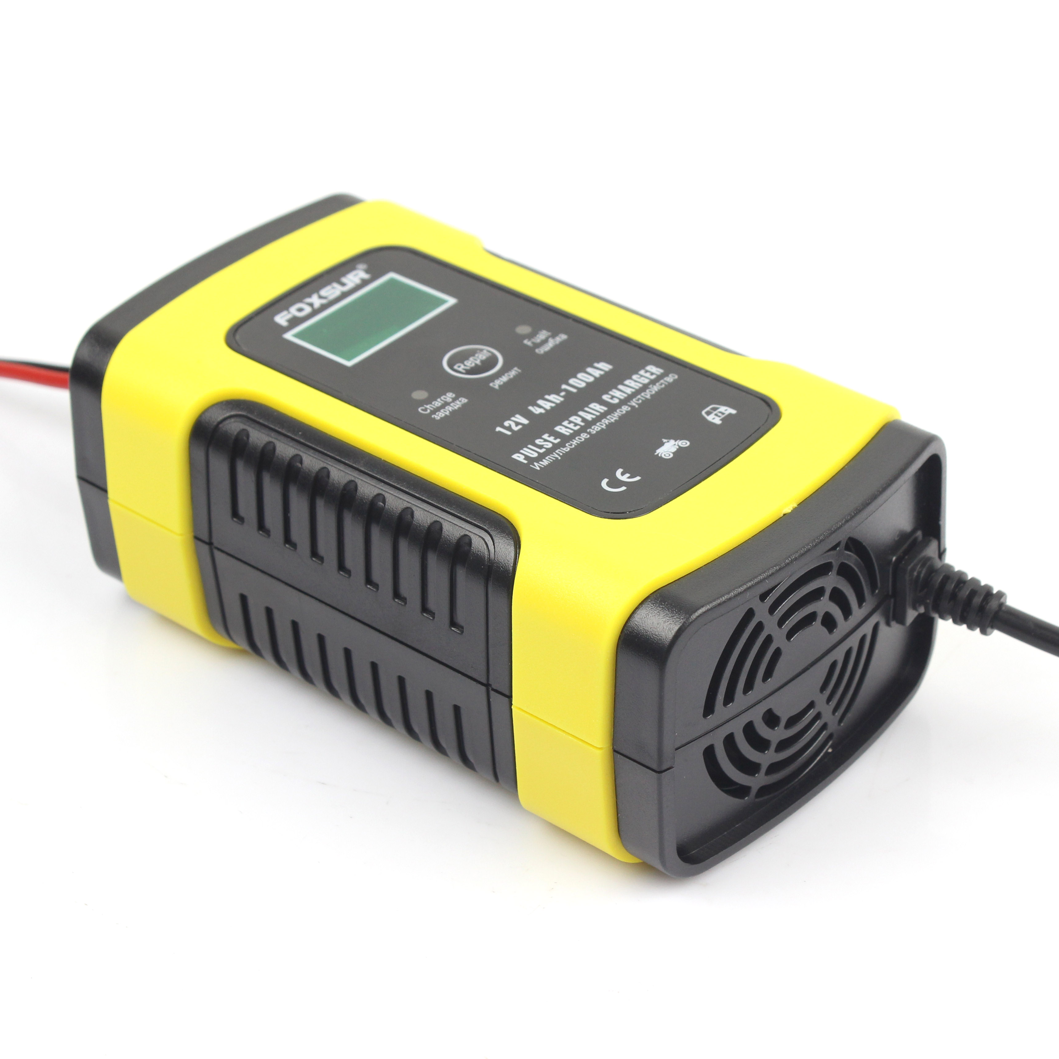 12v 5a Battery  Charger Pulse Repair Charger With Lcd Display For Motorcycle Car Battery