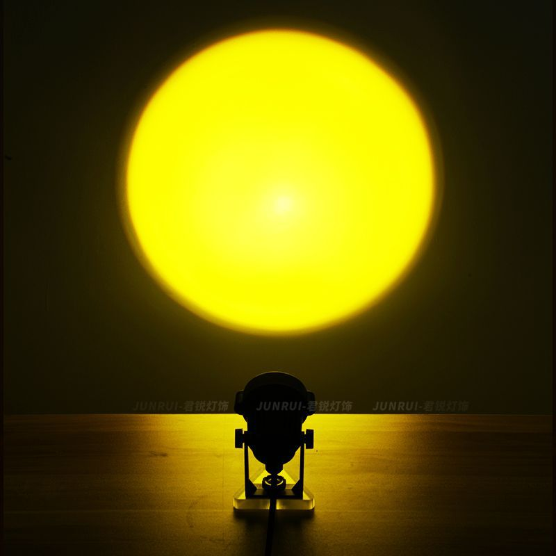 Sunset Lamp Projection Colorful Light Photo Background Atmospherespot Light