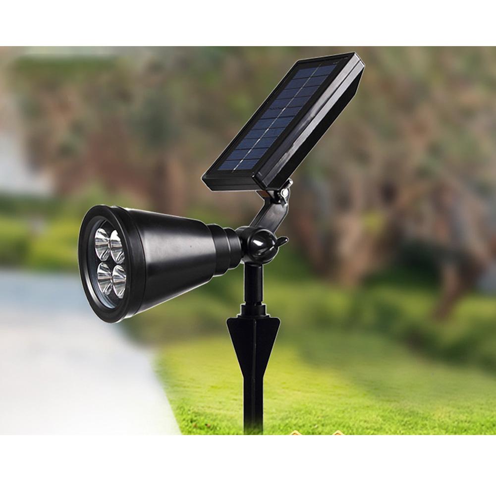 4LEDs Solar Power Garden Lamp Spot Light Outdoor Waterproof Lawn Landscape Path Spotlight 0.5W spotlight white