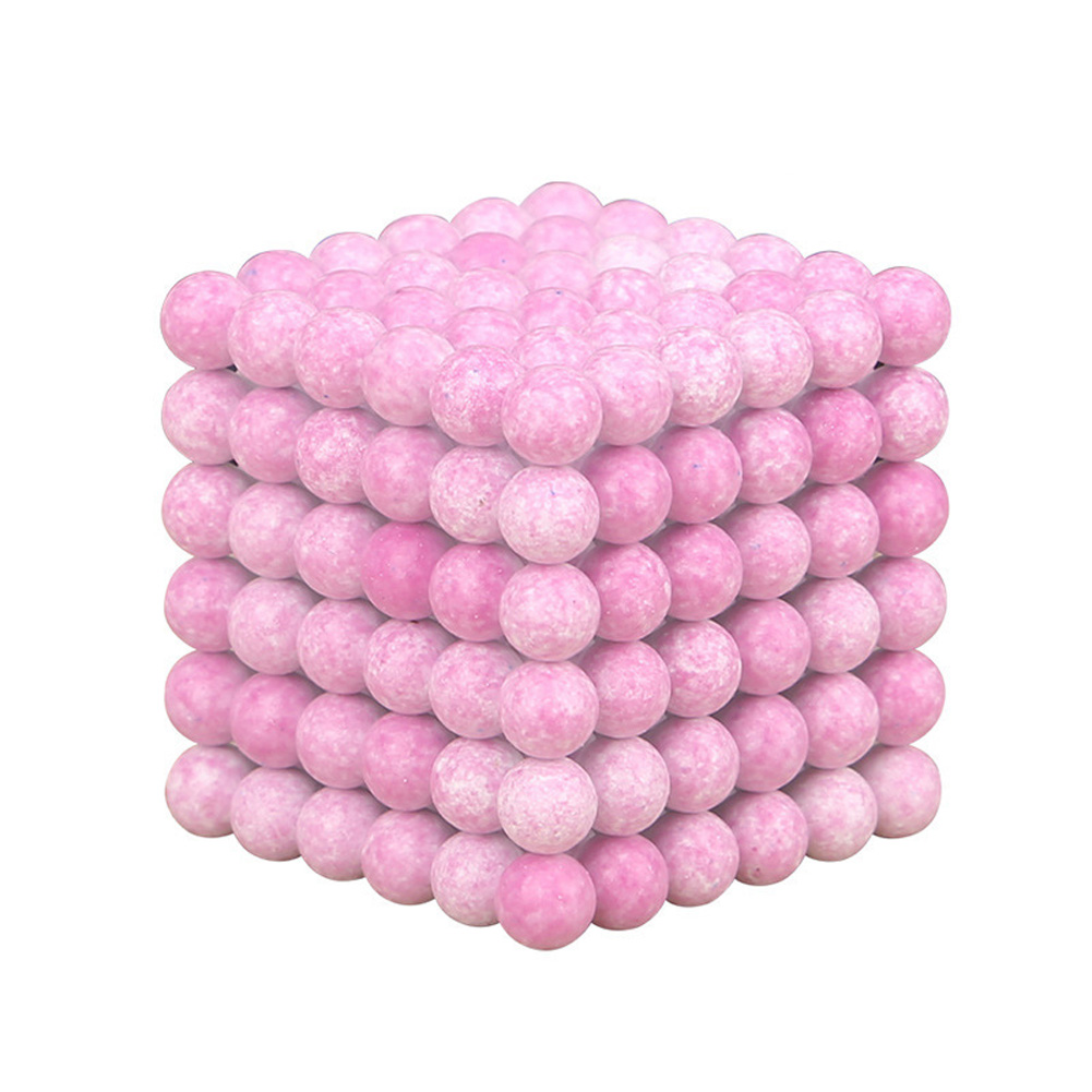 216pcs 5mm Magnetic Ball Children Puzzle Toy Kids Educational DIY Game with Iron Box