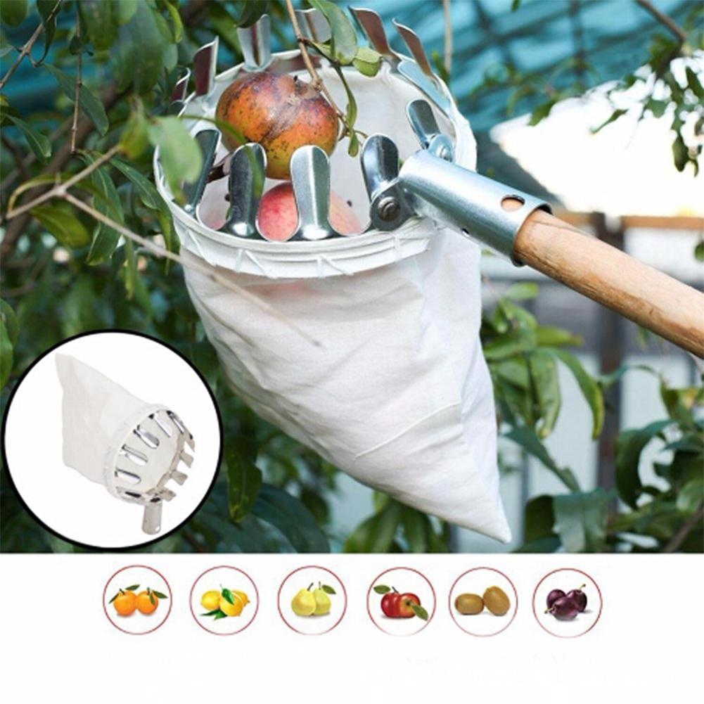 Portable Metal Fruit Picker Horticultural Fruit Picker Gardening Picking Tool Hardware Tool Silver