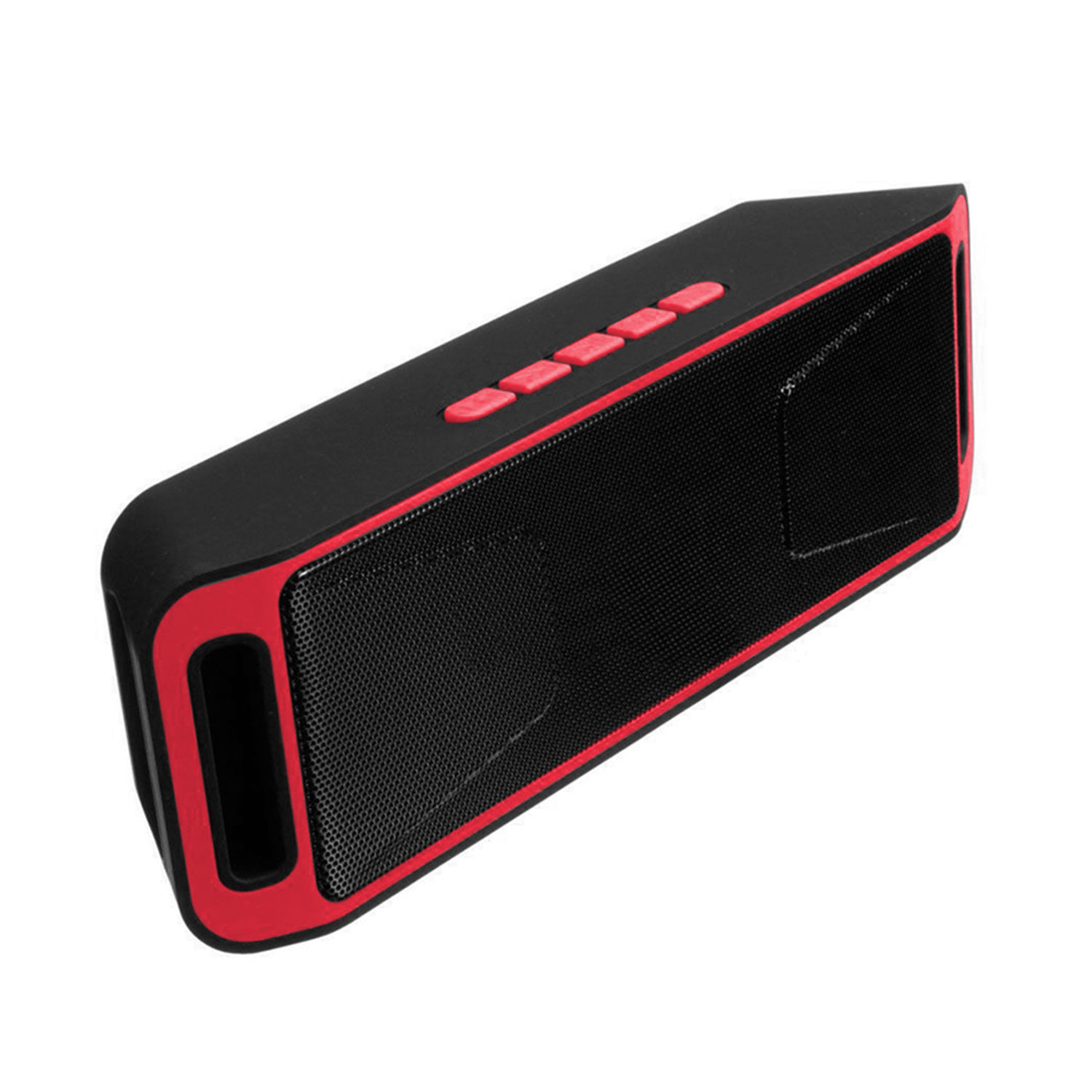 Wireless Bluetooth Speaker USB Flash FM Radio Stereo MP3 Player Support TF Card Red