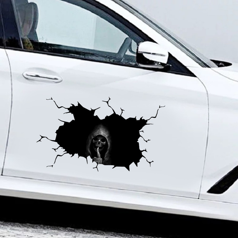 Car Sticker Skull Decoration Drawing Car Body Styling Sticker Halloween Horror Series 20*30cm
