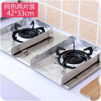 2Pcs Aluminum Foil Gas Stove Covers Non-stick Protectors Sheets Anti-oil Pad Tin Paper Silver