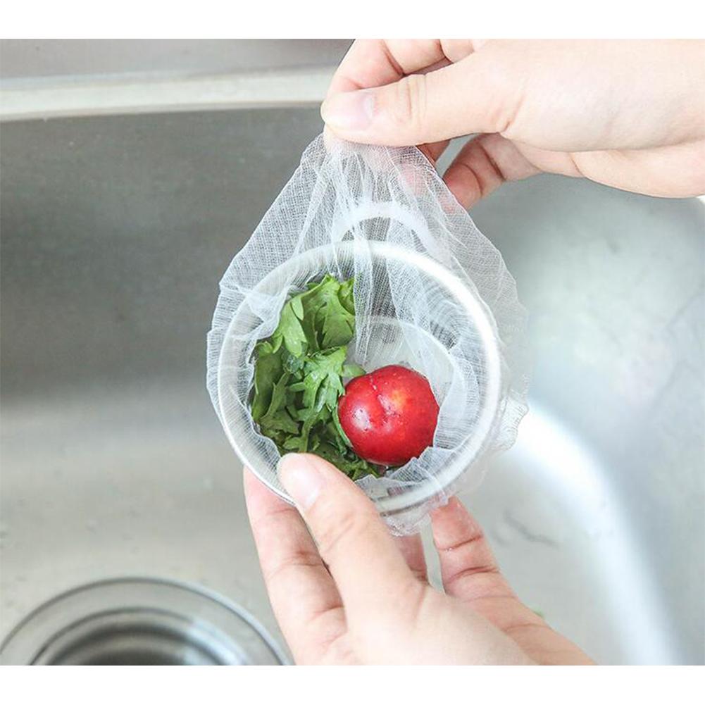 Filtering Screen Drain Garbage Bag for Kitchen Water Tank Sink 100 packs
