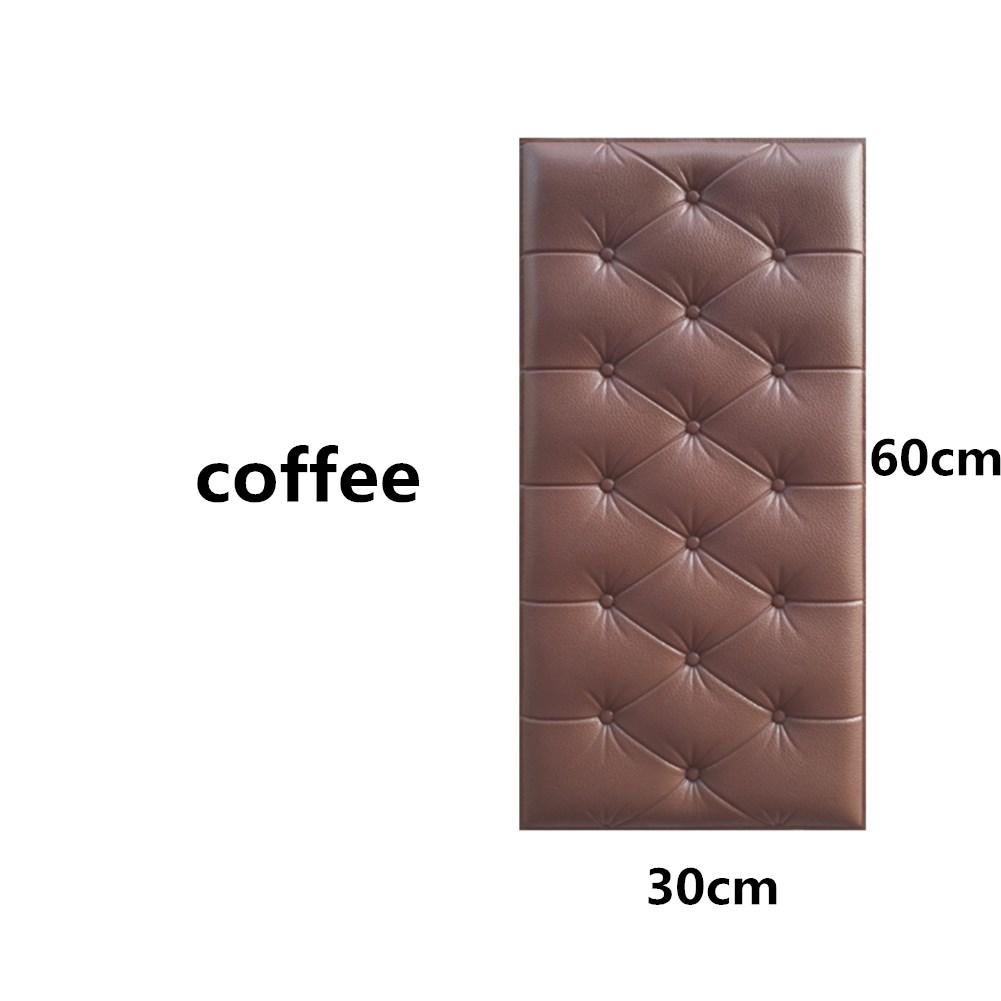 3D Foam Waterproof Self Adhesive Wallpaper for Living Room Bedroom Kids Room Nursery Home Decor Brown
